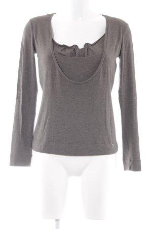 Tru Trussardi Sweatshirt graubraun schlichter Stil