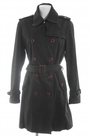 Tru Trussardi Trenchcoat schwarz-braun Casual-Look