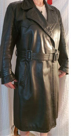 Leather Coat dark green leather