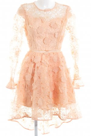True Decadence Abendkleid apricot florales Muster Elegant