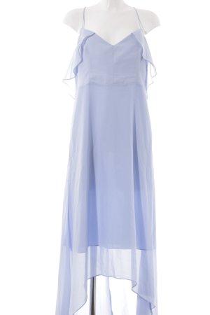True Decadence Vestido de chifón azul aciano estilo romántico