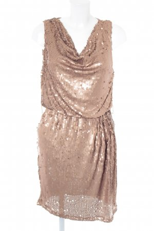 True Decadence Pailettenkleid bronzefarben Party-Look