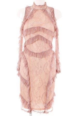True Decadence Spitzenkleid rosa-creme extravaganter Stil