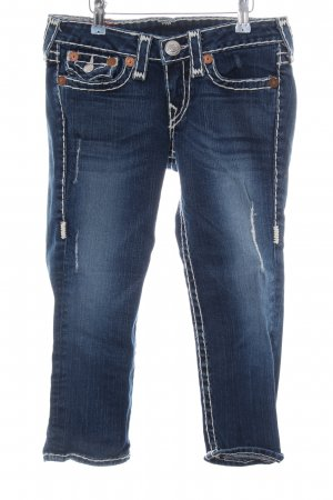 True Religion 3/4-jeans blauw casual uitstraling