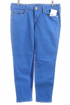 True Religion 3/4 Jeans blau Logo-Applikation