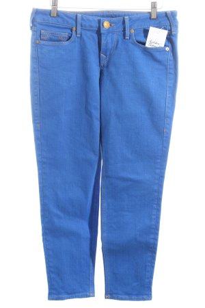 True Religion 3/4 Jeans blau Logo-Applikation