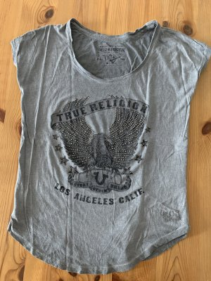True Religion T-shirt argento-grigio