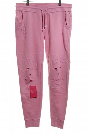 True Religion Baggy Pants pink Destroy-Optik
