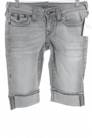 True Religion Bermuda grau Washed-Optik