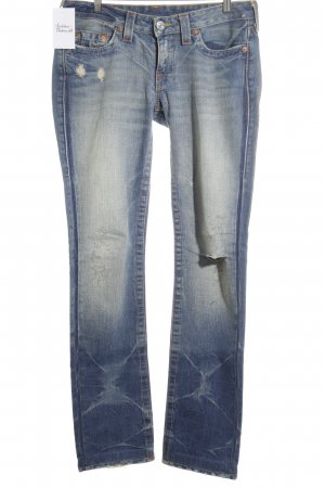 True Religion Bikerjeans graublau Jeans-Optik