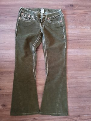 True Religion Pantalón de color caqui verde oliva