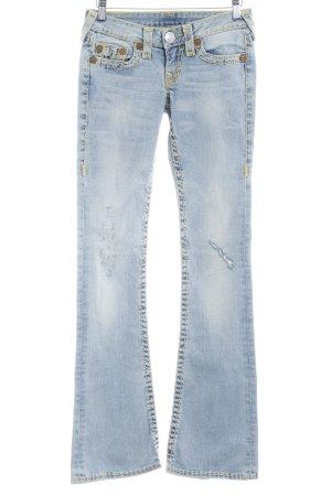 True Religion Boot Cut Jeans blassblau Casual-Look