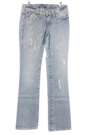 True Religion Boot Cut Jeans blassblau-weiß Casual-Look
