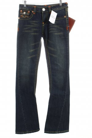 True Religion Boot Cut Jeans blau Hippie-Look
