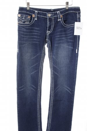 True Religion Boot Cut Jeans blau Used-Optik