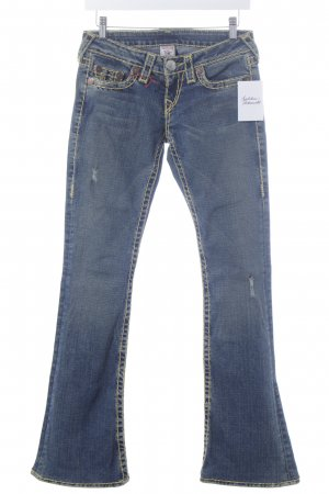 "True Religion Boot Cut Jeans ""Bobby Yellow Super T"" dunkelblau"