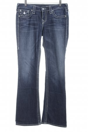 True Religion Boot Cut Jeans dunkelblau Jeans-Optik