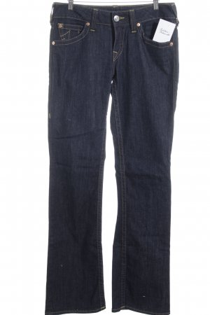 True Religion Boot Cut Jeans dark blue flecked casual look