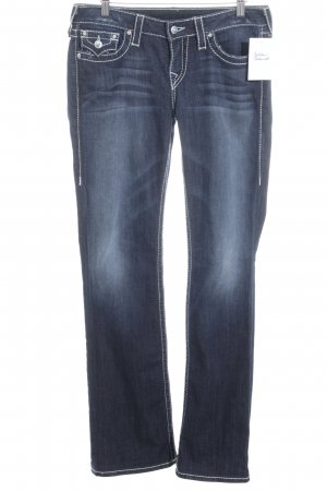 True Religion Boot Cut Jeans dunkelblau Street-Fashion-Look