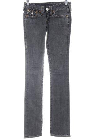 True Religion Boot Cut Jeans dunkelgrau Casual-Look