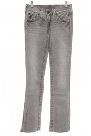 True Religion Boot Cut Jeans grau-hellgrau Casual-Look
