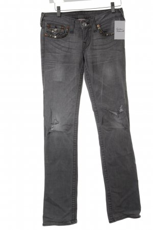 True Religion Boot Cut Jeans hellgrau meliert Casual-Look