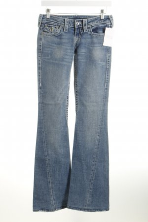 True Religion Boot Cut Jeans stahlblau Casual-Look