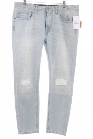 True Religion Boyfriendjeans hellblau Casual-Look