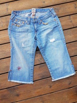 True Religion, Capri Jeans, blau