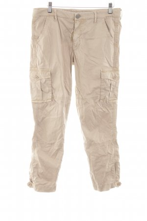 True Religion Cargo Pants natural white simple style