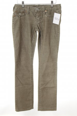 True Religion Cordhose graubraun Casual-Look