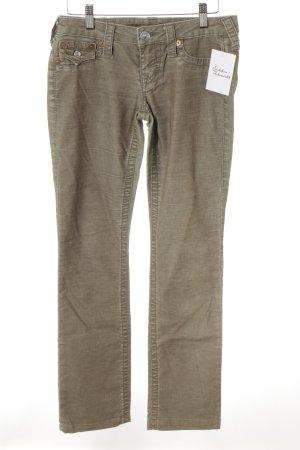True Religion Pantalone di velluto a coste marrone-grigio stile casual