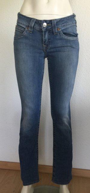 True Religion Damen Jeans Hi-Rise Boot Gr. 27 blau Logo