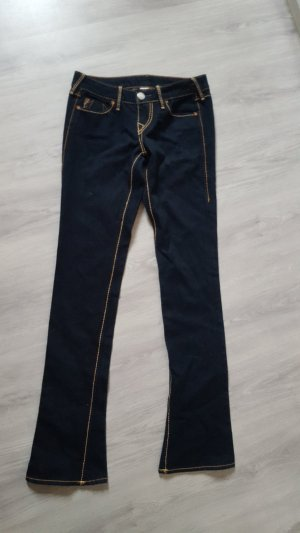 True Religion Low Rise jeans neonoranje-donkerblauw