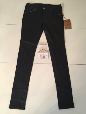 True Religion Damen Leder Jeans Super Skinny
