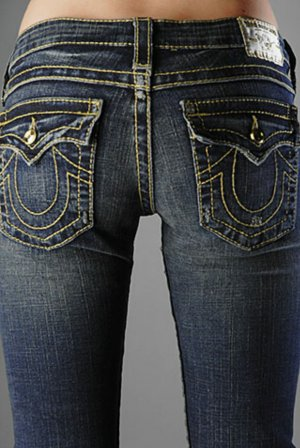 True Religion disco Billy big T swarowski skinny jeans w24