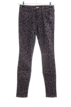 True Religion Pantalón de cinco bolsillos marrón-negro estampado d