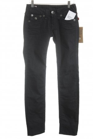 True Religion Five-Pocket-Hose dunkelblau Street-Fashion-Look