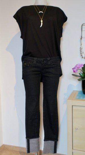 True Religion Grau/Scharz Jeans, Gr. 27 (Cuff Look)