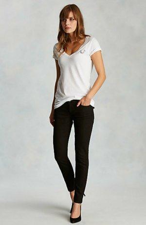 True Religion Halle Casey schwarze skinny jeans second skinn Leggins w24