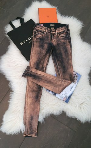 True Religion Halle Mid Rise Super Skinny kupfer coated w23