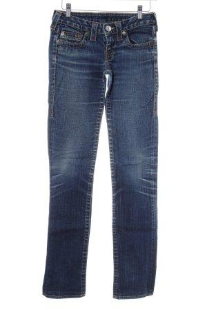 True Religion Pantalone a vita bassa blu scuro stile jeans