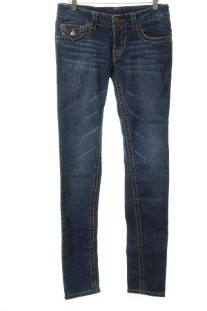 True Religion Jeans taille basse bleu foncé-bleu clair style décontracté