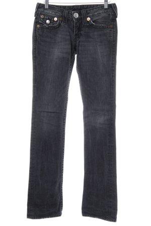 True Religion Jeans taille basse gris foncé style simple