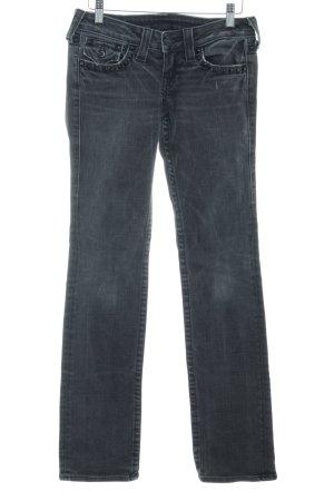 True Religion Jeans taille basse gris foncé-noir moucheté style décontracté