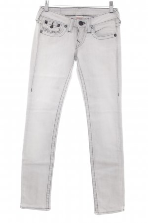 True Religion Low Rise Jeans light grey-pale blue washed look