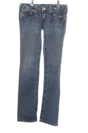 True Religion Jeans taille basse bleu fluo style décontracté