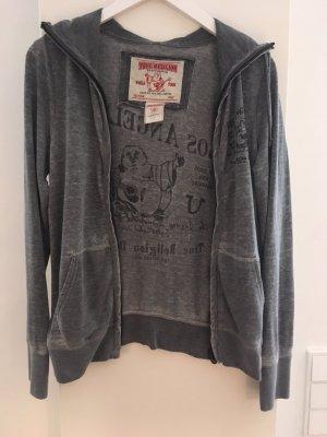 True Religion, Jacke mit Kapuze, neuwertig, grau, Größe S, weiches Material