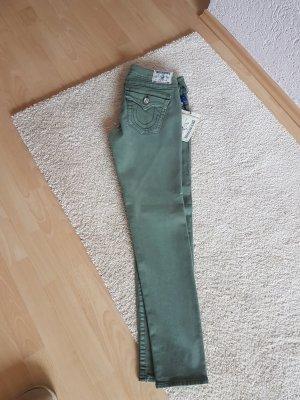 True Religion Jeans + 31 +oliv + ungetragen