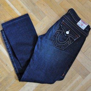 True Religion 7/8 Length Jeans blue-dark blue cotton